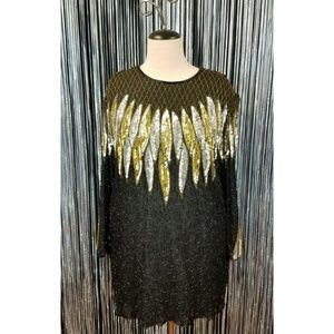 Vintage 80's sequin glam tunic
